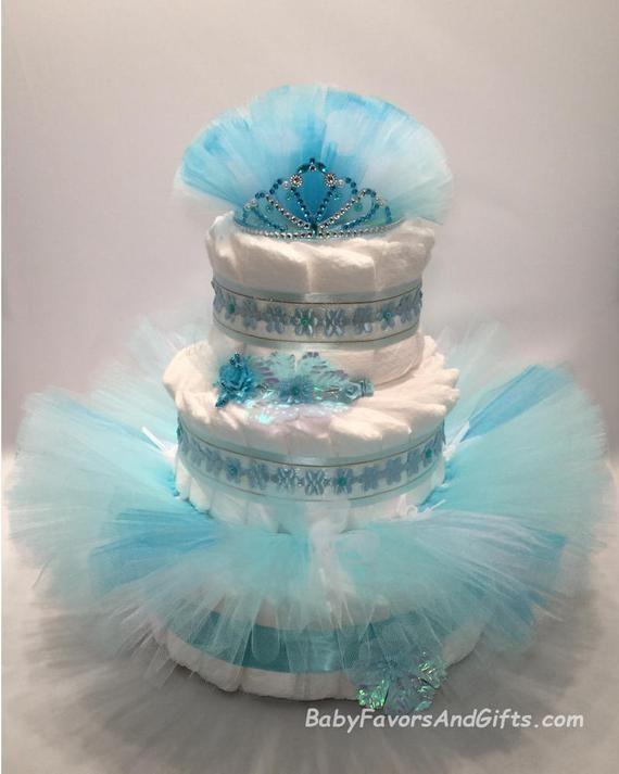 30317469e4b9 Frozen Princess Diaper Cake - Elsa - Great gift or centerpiece for ...