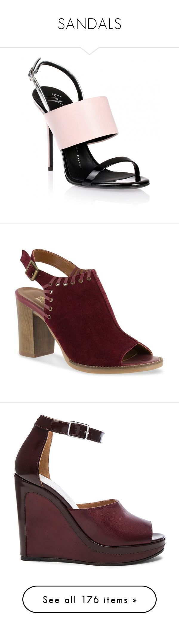 """""""SANDALS"""" by noconfessions ❤ liked on Polyvore featuring shoes, sandals, heels, pink, heeled sandals, strappy stiletto sandals, stiletto sandals, strappy sandals, strappy heeled sandals and burgundy"""