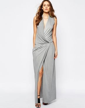 BOSS Orange Maxi Dress with Wrap Front