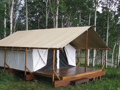 """Cimarron Platform Tents are the perfect outdoor getaway for those who love to get out in nature but don't necessarily want to """"rough it."""""""