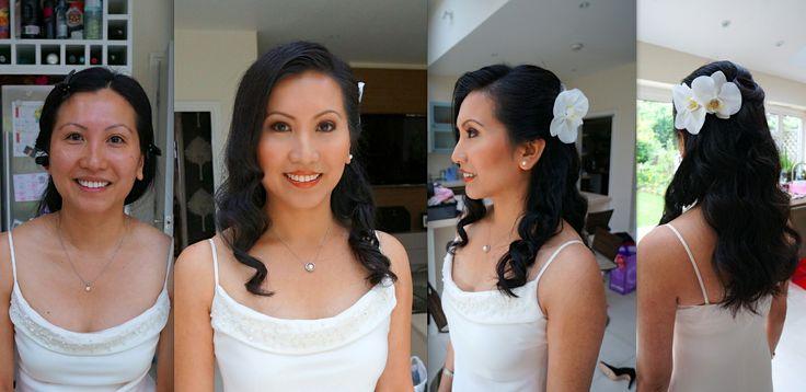 Bridal airbrush makeup for Asian, Chinese, Japanese, Korea, Vietnamese, Thai brides in London.