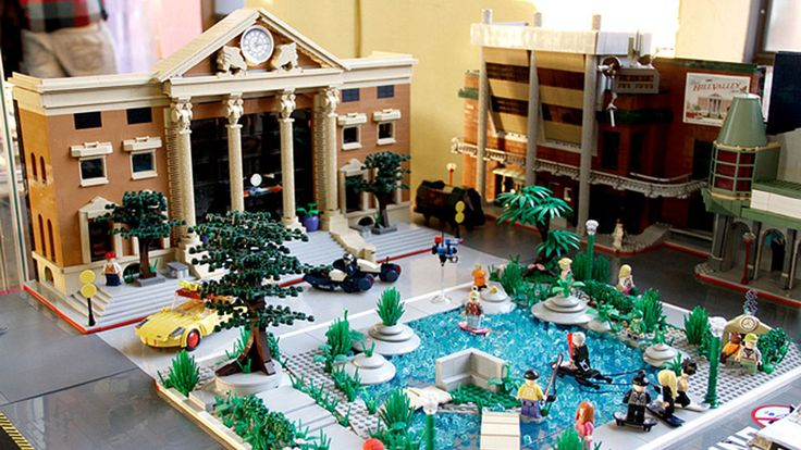 Lego Back to the Future Town!! I want that! or just MJFox http://gizmodo.com/5881605/lego-back-to-the-future-town-should-be-turned-into-an-official-lego-line