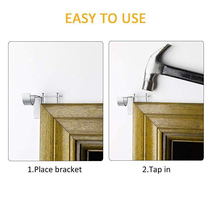 Easy Rod Hangers For Curtains No More Measuring No More Fuss