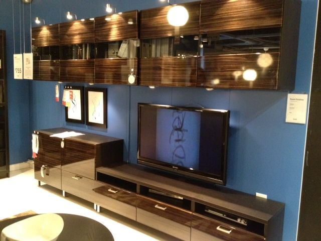 Living Room wall unit. Ikea Besta. In white