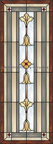 Stained Glass Door Panel Decorative Window Film                                                                                                                                                     More
