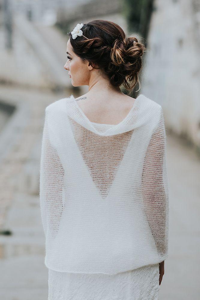 snood mariée pulls pour la mariée, pull en mohair paige, accessoire de mariage pull mariée lyon  Créatrice robe de mariée sur mesure à lyon et accessoire de mariage tricoté