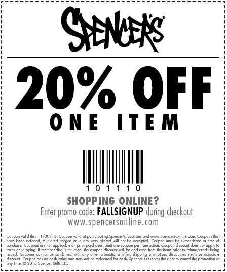 Spencer's originated from Spencer Gifts LLC which is a lifestyle retail company that operates two brands, Spencer's and Spirit Halloween. Having been around for 60 years, Spencer's has always offered fun and unique products for cheeky 18 to 24 year olds and anyone else who loves their eccentric designs.