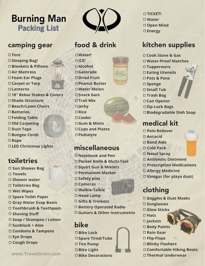 Burning Man Camping Checklist: The essential guide to packing