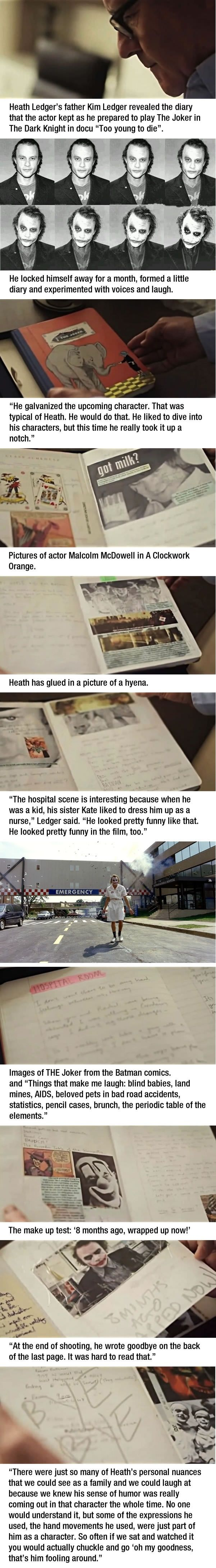 Heath Ledger's joker diary
