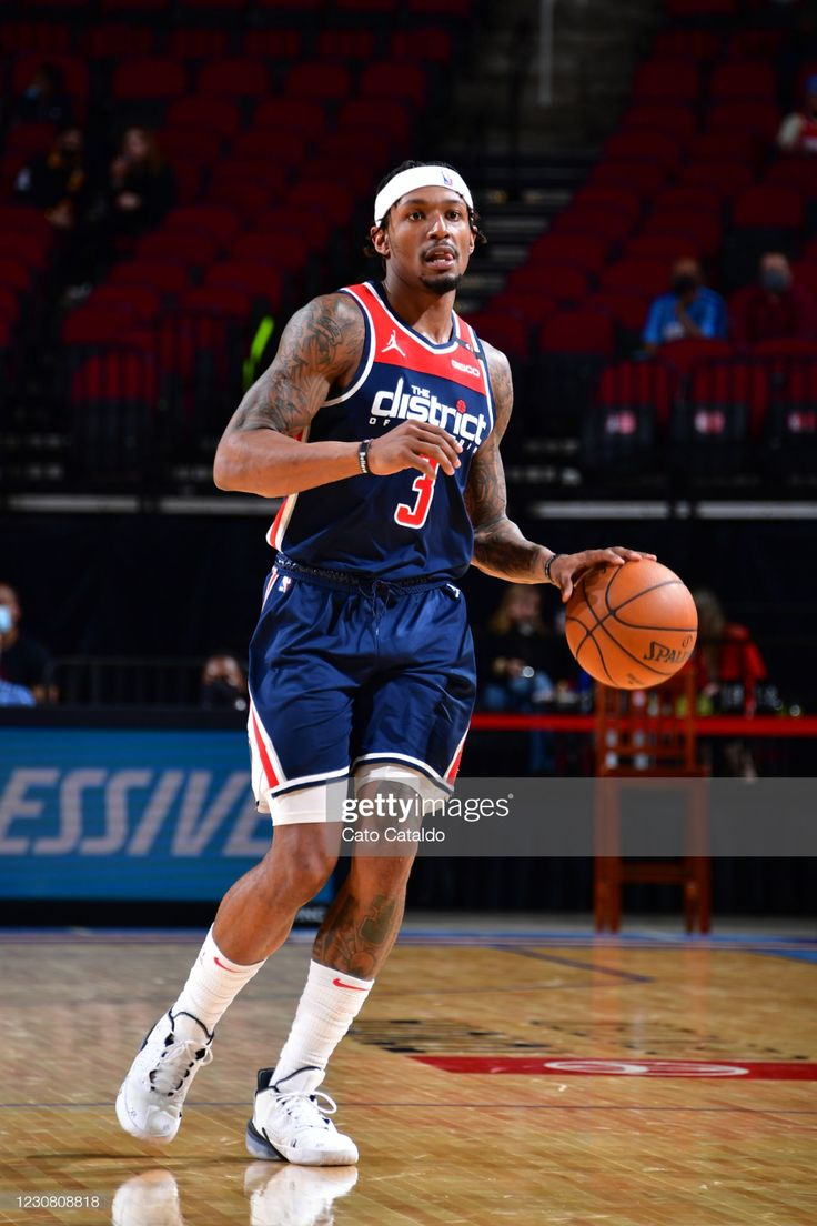 Bradley Beal Of The Washington Wizards Dribbles The Ball During The