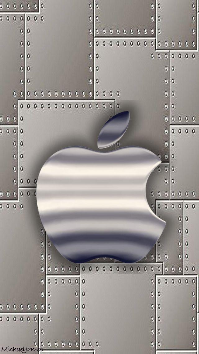 Download Metal Plates & Aluminum Apple-01 640 x 1136 Wallpapers - 4519009 - Steel Brushed Apple Metal | mobile9