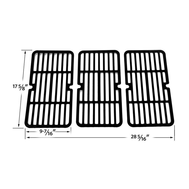 BBQ Porcelain Cooking Grids Grid Replacement for Select Gas Grill Model 54193
