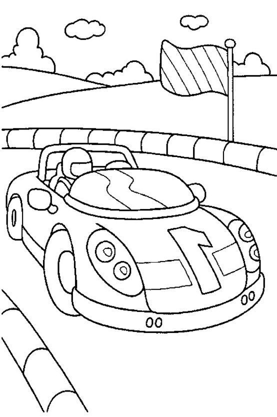 How To Draw Race Car Coloring Pages For Children Coloring Pages