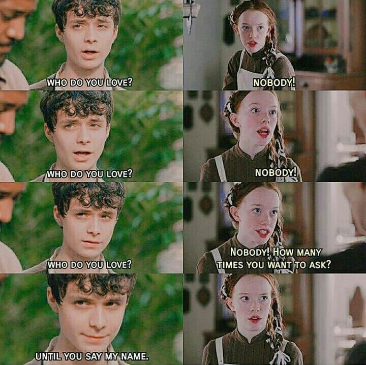 Rofl Gilbert And Anne Anne Shirley Anne Of Green Gables