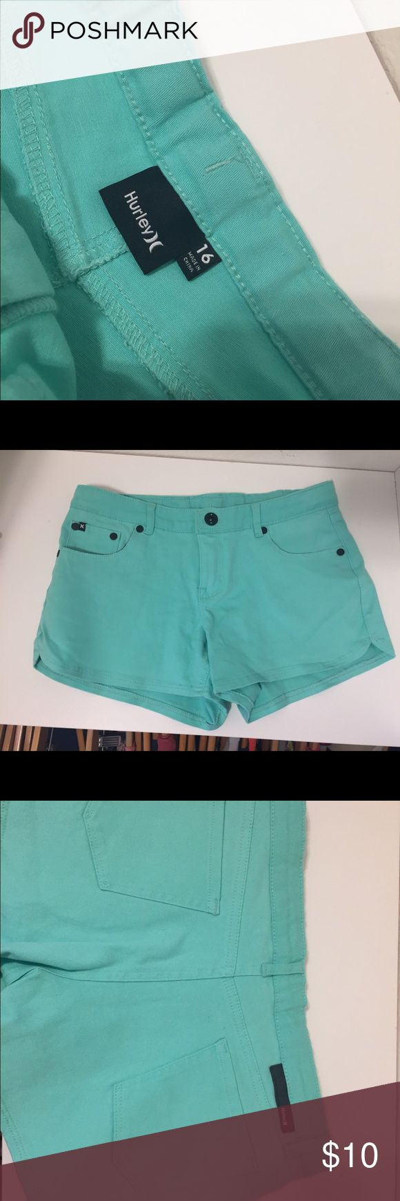 Hurley teal shorts with adjustable waist NWOT NWOT Hurley teal shorts with adjustable waist Hurley Bottoms Shorts
