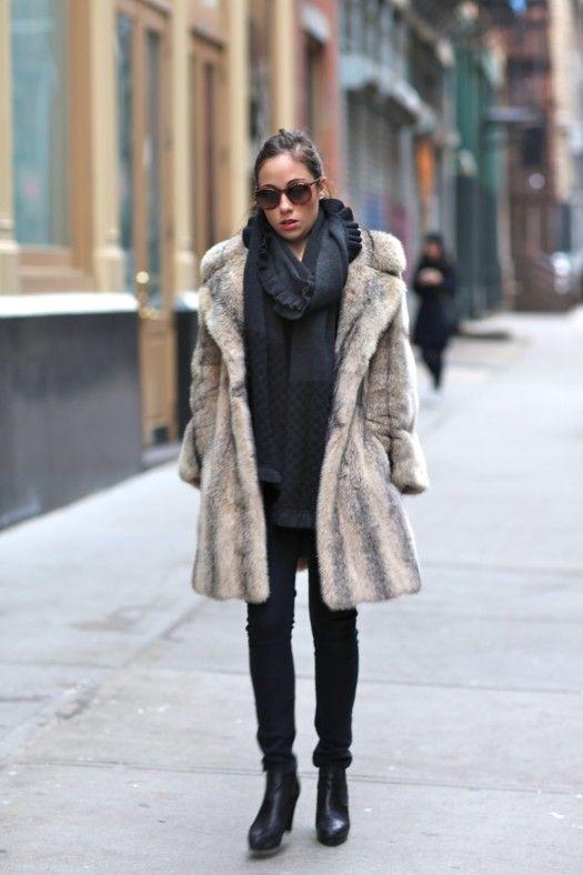 18 best Fur street style images on Pinterest | Fur jackets, Ashley ...