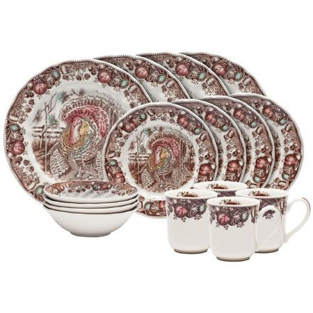 johnson brothers his majesty thanksgiving china set - Thanksgiving China Patterns