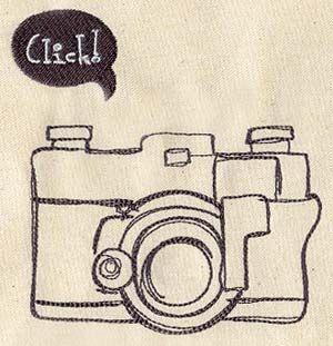camera - machine embroidery design