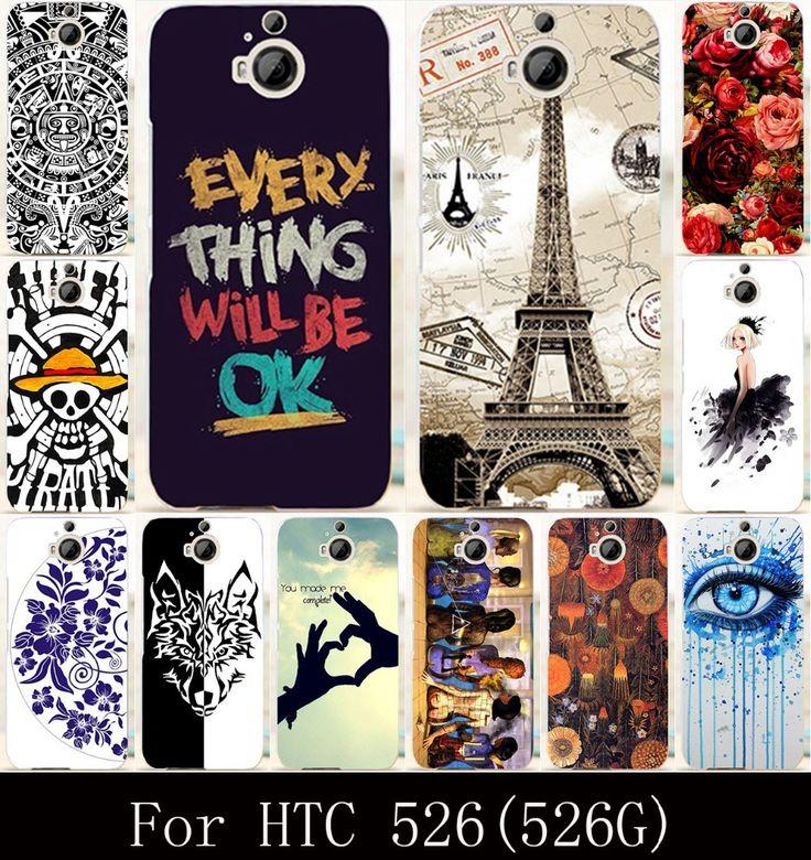 DIY Hard Plastic Soft TPU Silicon Phone Case For HTC Desire 526 326G 326  526G 4.7