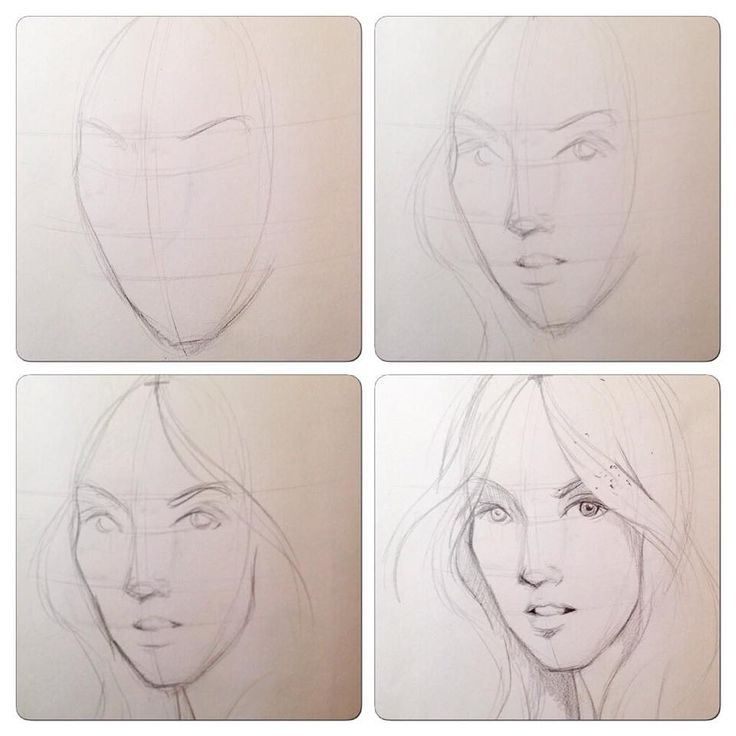 Step by step pencil drawing