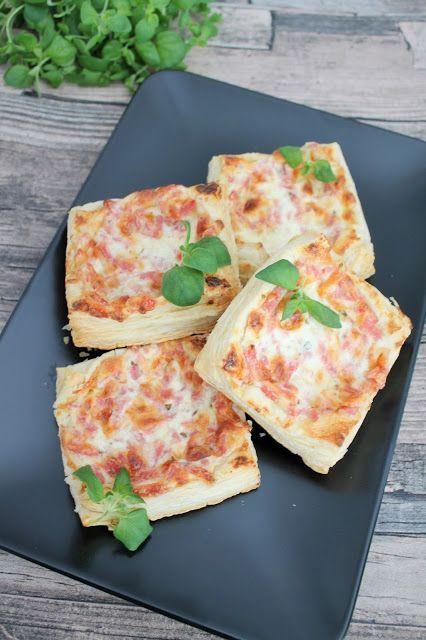 Helpot ja herkulliset kinkku-juustoneliöt