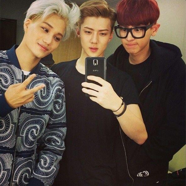 #exo #weareone #sehun #sehunnie #kai #chayeol #park #selfie