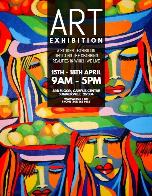 art exhibition flyer flyer pinterest art flyer template and