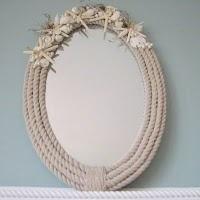 DIY Nautical Rope Mirror