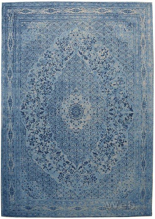 Tabriz - blauw | vintage chenille karpet