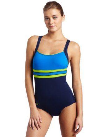 Speedo Women`s Endurance Horizon Splice Ultraback Swimsuit $61.32 - $71.45