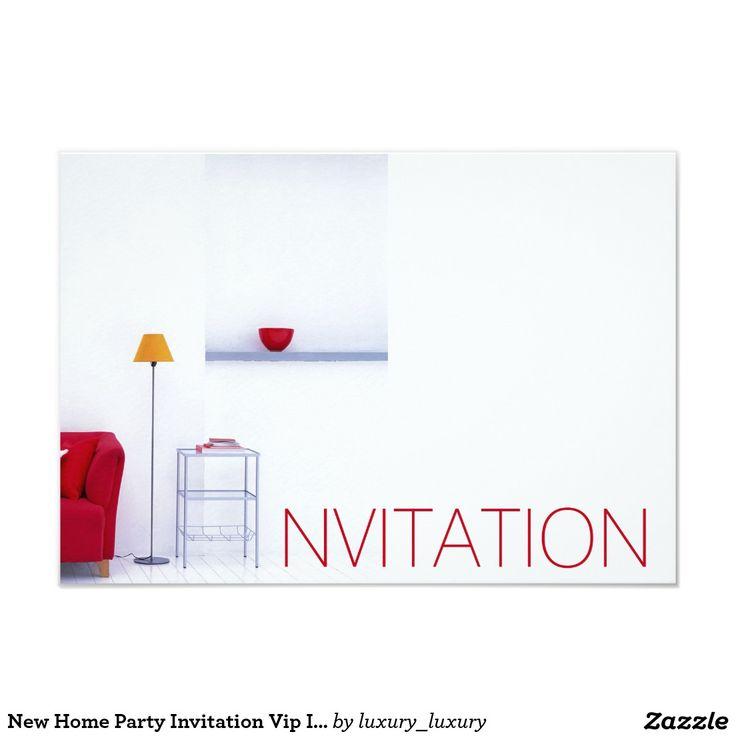 New Home Party Invitation Vip Invitation