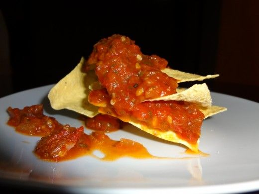 homemade salsa - I made it this evening and it's REALLY good!