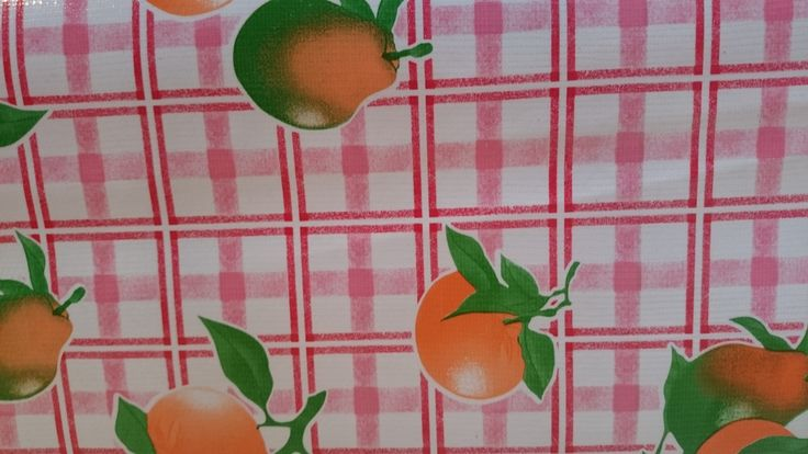 Appeltjes van oranje met ruit | tafelzeil | VIA CANNELLA KINDERWINKEL | CUIJK | www.viacannella.nl