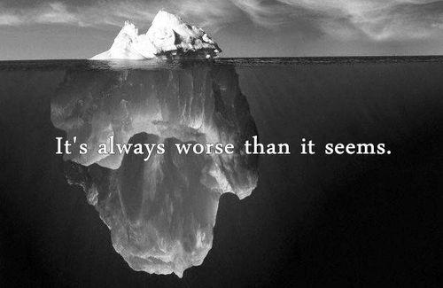 It's always worse than it seems. #depression