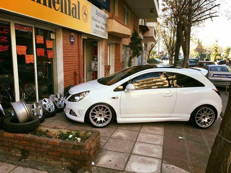 White Corsa OPC from Greece
