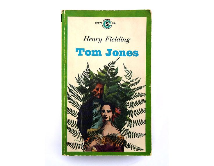 "Milton Glaser book cover design, 1963. ""Tom Jones"" by Henry Fielding by NewDocuments on Etsy"