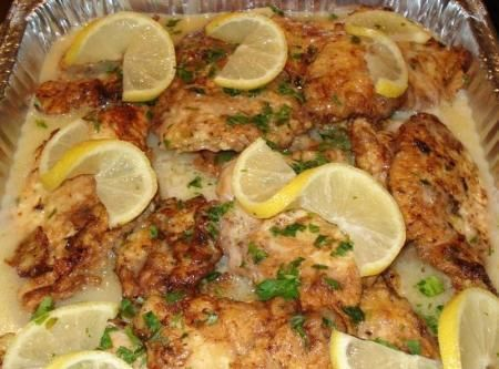 Chicken Francaise (may use flounder or veal)