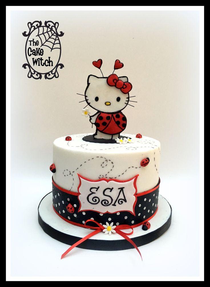 Hello Kitty Ladybug cake
