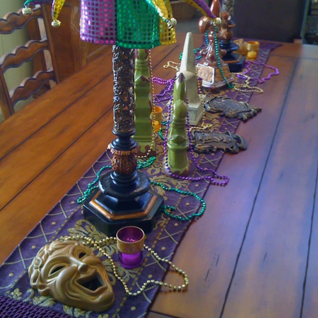 Mardi Gras Theme, Table Decor, Party, New Orleans