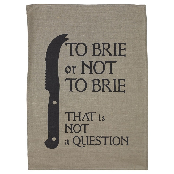 I love this! | Flax To Brie Or Not To Brie Tea Towel - Kookery - on Temple & Webster today.