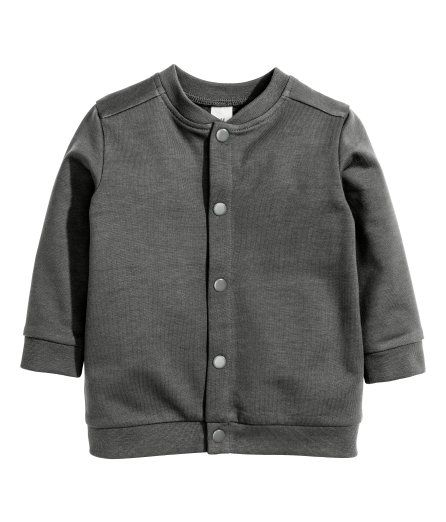 Check this out! CONSCIOUS. Cardigan in soft, organic cotton fleece. Stand-up collar, snap fasteners at front, and ribbing at neckline, cuffs, and hem. Soft, brushed inside. - Visit hm.com to see more.