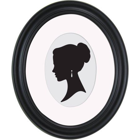 Mainstays 8x10 Matted to 5x7 Holmgren Oval Picture Frame, Black - Walmart.com