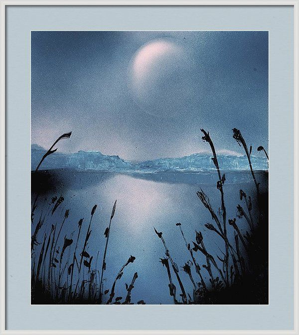 Featuring the painting Moon Fog by Nandor Molnar (When you visit the Shop, change the size, frame, mat, paper and finish as you wish)