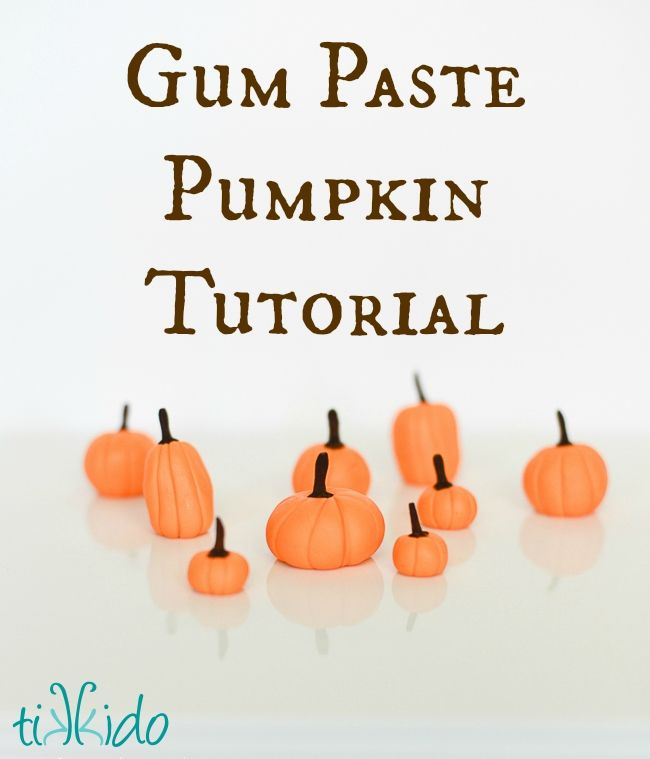 Easy Gum Paste Pumpkin Fall Cupcake Topper .  IT only takes a few seconds to make each of these adorable gum paste pumpkins!  My contribution to the #craftlightning Halloween edition blog hop.  Perfect for all your fall cupcakes, though!