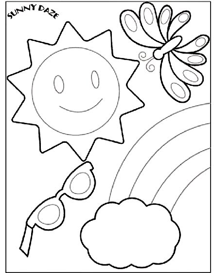 Your Kids Will Love This Fun And Sunny Free Coloring Page Crayola Coloring Pagessummer