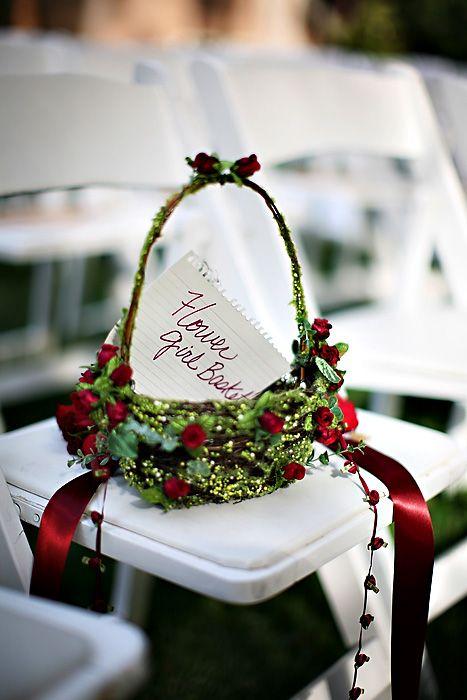 Real Weddings Heather And Gian Flower BasketsFlower