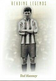 Ted Hanney of Reading 1921-22. 41 appearances 2 goals. Olympic gold medalist for the Great Britain football team in 1912.