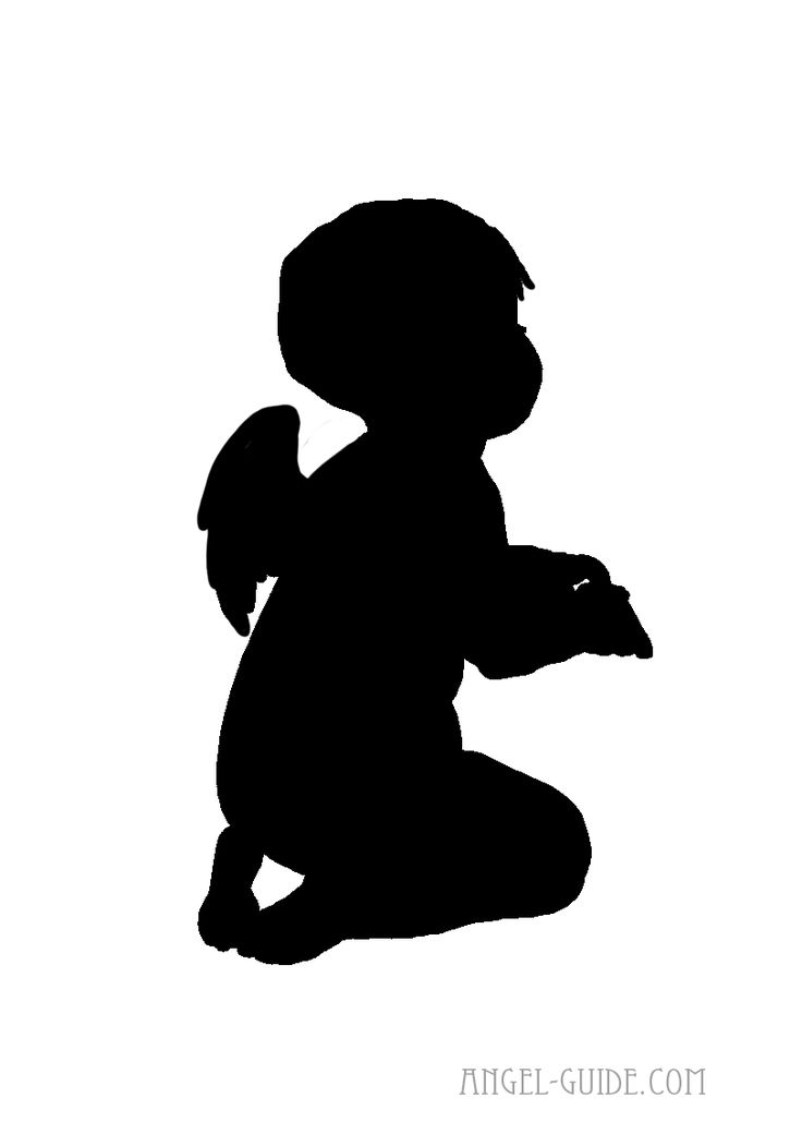 cute cherub angel silhouette p icture from our angel images collection