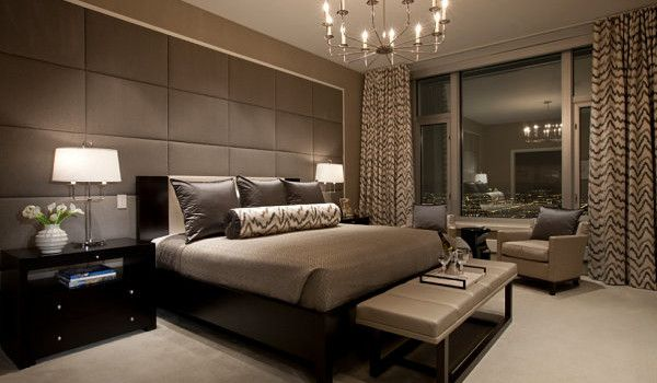 Bedroom Modern Wallpaper Luxury Bedside Furniture Ideas Sets Decorating Paint Colors Black And Taupe Modern Bedroom Interior Lighting Decor Design Candelier Also Table Made From Brass Furniture Make Your Interior Change Into More Catchy