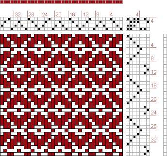 12 schäftig mit 12 karten 46: Lehr-Methode der Weberei | Ferdinand A. Langewald | North-Oxford, Massachusetts, U.S.A. | 1871 | 4-shaft, 7-treadle